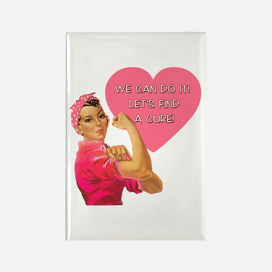 Rosie the Riveter Breast Cancer Rectangle Magnet