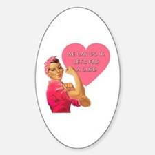 Rosie the Riveter Breast Cancer Decal