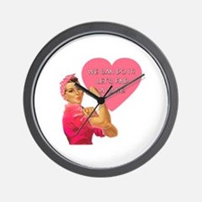 Rosie the Riveter Breast Cancer Wall Clock