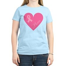 Breast Cancer Mom Heart T-Shirt