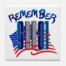Remember 9/11 - Twin Towers Tile Coaster