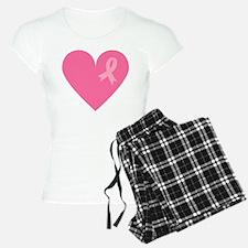 Breast Cancer Heart Pajamas