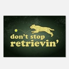 Don't Stop Retrievin' Postcards (Package of 8)