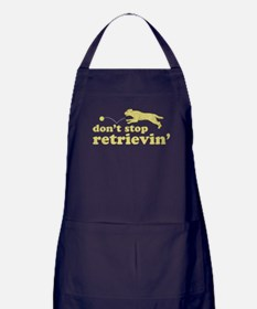 Don't Stop Retrievin' Apron (dark)