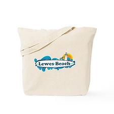 Lewes Beach DE - Surf Design Tote Bag
