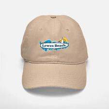 Lewes Beach DE - Surf Design Baseball Baseball Cap
