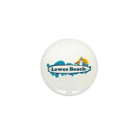 Lewes Beach DE - Surf Design Mini Button