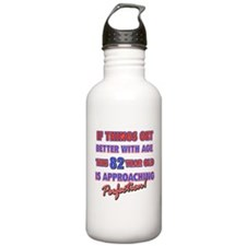Funny 82nd Birthdy designs Water Bottle