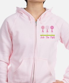 Join the Fight Pink Ribbon Zip Hoodie