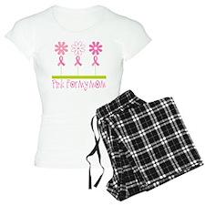 Pink Ribbon For My Mom Pajamas