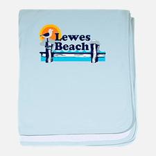 Lewes Beach DE - Pier Design. baby blanket