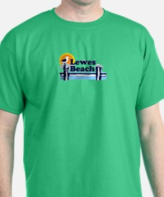 Lewes Beach DE - Pier Design. T-Shirt