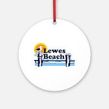 Lewes Beach DE - Pier Design. Ornament (Round)