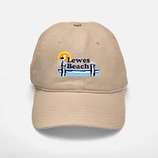 Lewes Beach DE - Pier Design. Baseball Baseball Cap
