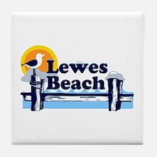 Lewes Beach DE - Pier Design. Tile Coaster