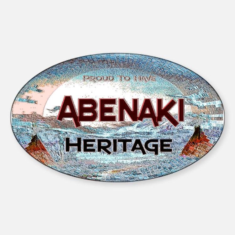 Abenaki Heritage Sticker (Oval)