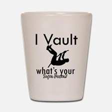 I Vault what's your superpower? Shot Glass