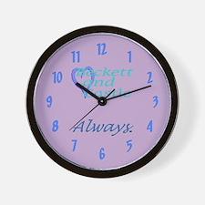 Beckett Castle Always Wall Clock