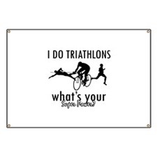 I Triathlons what's your superpower? Banner