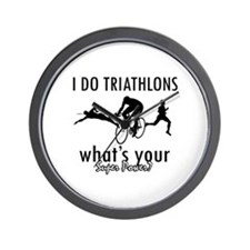 I Triathlons what's your superpower? Wall Clock