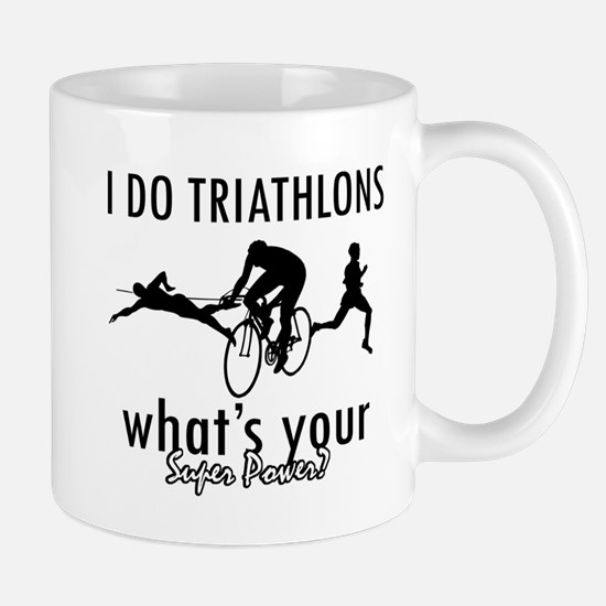 I Triathlons what's your superpower? Mug