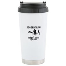 I Triathlons what's your superpower? Travel Mug