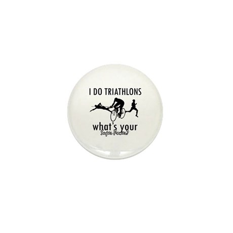 I Triathlons what's your superpower? Mini Button (