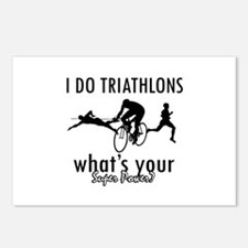 I Triathlons what's your superpower? Postcards (Pa