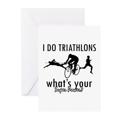 I Triathlons what's your superpower? Greeting Card