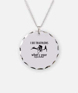 I Triathlons what's your superpower? Necklace