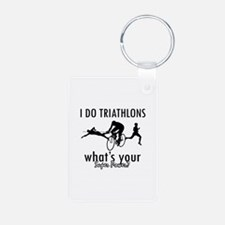 I Triathlons what's your superpower? Keychains