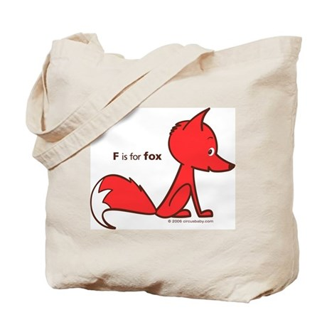 """""""F is for Fox"""" Tote Bag"""