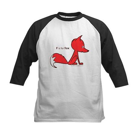 """F is for Fox"" Kids Baseball Jersey"