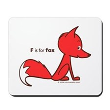 """""""F is for Fox"""" Mousepad"""