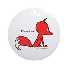 """""""F is for Fox"""" Ornament (Round)"""