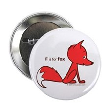 """""""F is for Fox"""" Button"""