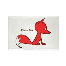 """F is for Fox"" Rectangle Magnet"