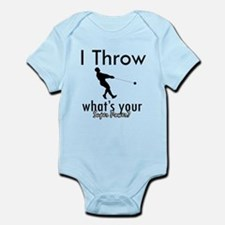 I Throw what's your superpower? Infant Bodysuit