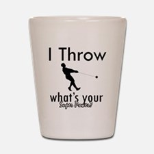 I Throw what's your superpower? Shot Glass