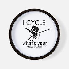 I Cycle Wall Clock