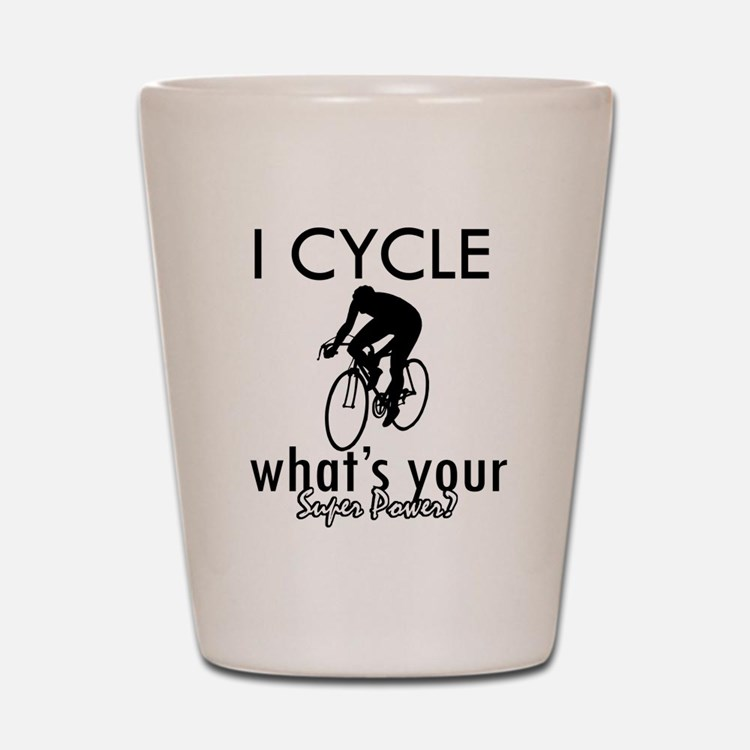 I Cycle Shot Glass