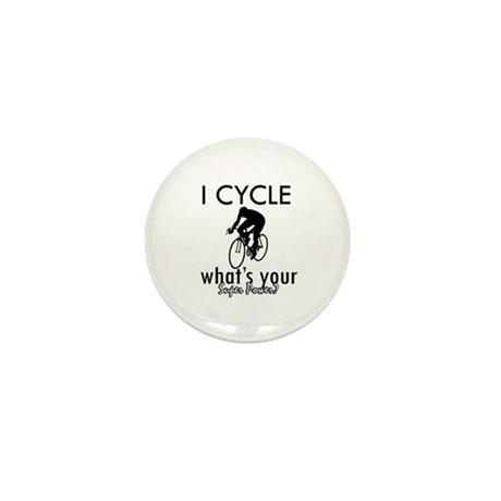 I Cycle Mini Button (10 pack)