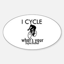 I Cycle Sticker (Oval)