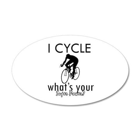 I Cycle 38.5 x 24.5 Oval Wall Peel