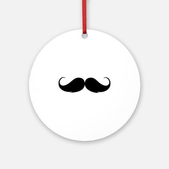 Moustache Ornament (Round)