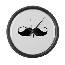 Moustache Large Wall Clock