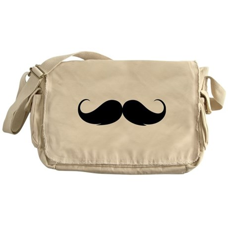 Moustache Messenger Bag