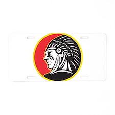 Native American Indian Aluminum License Plate
