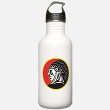 Native American Indian Water Bottle