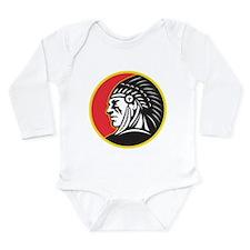 Native American Indian Long Sleeve Infant Bodysuit